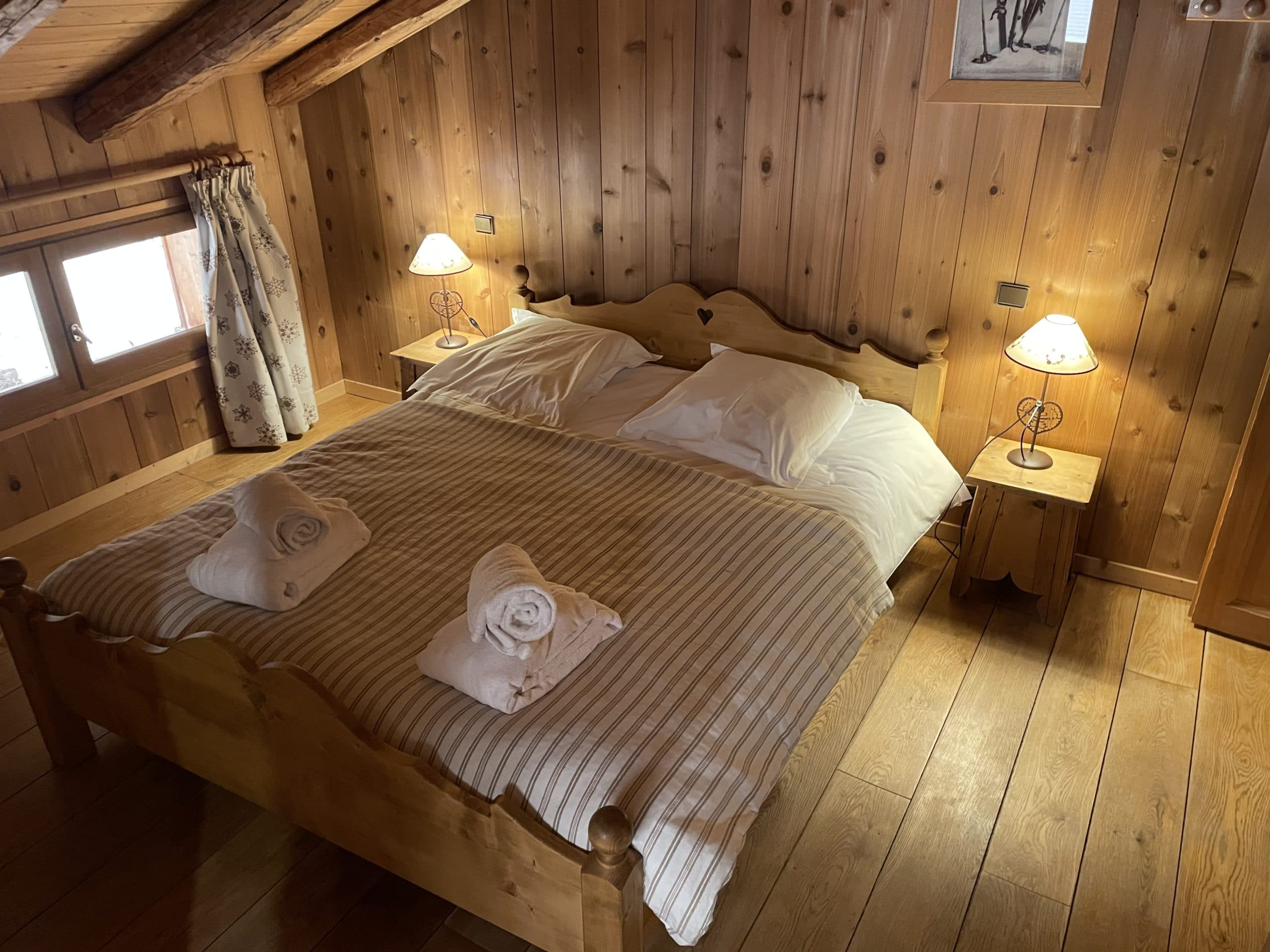 Lit confortable et spacieux dans ce chalet de montagne à Morzine Avoriaz
