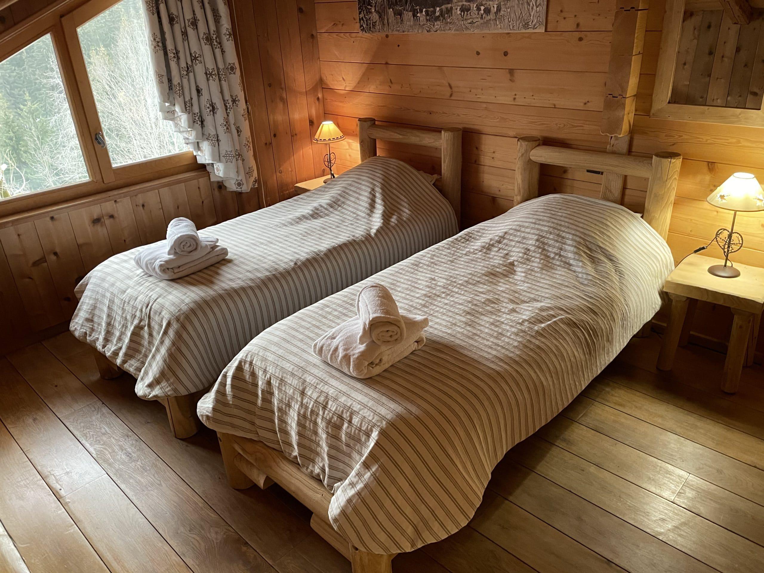 Chambre avec vu sur la montagne dans ce chalet de vacance à Morzine